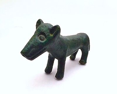 Exceptional Ancient Roman Bronze Wolf Figurine ~ Mildenberg Collection