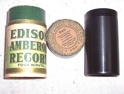 """EDISON PHONOGRAPH 4m RECORD OB/LID #840, """" RING OUT THE BELLS FOR CHRISTMAS"""""""