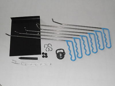 PDR paintless Dent Repair Removal Tools Set for Door Dings Hail window guard.,