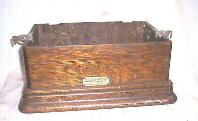 Edison Standard Phonograph Case Bottom With The Ics Tag , Model D , E And F