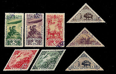 Tannu Tuva. Air Post Stamps. Issues of 1936. Scott C10-C17. Used.
