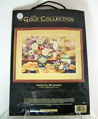 Dimensions Gold Collection ORIENTAL SPLENDOR # 1499 Crewel Kit by Lena Liu NEW