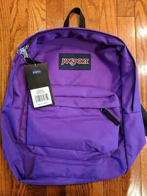 NWT JANSPORT SUPERBREAK Insignia Purple BACKPACK, School Bag Brand New