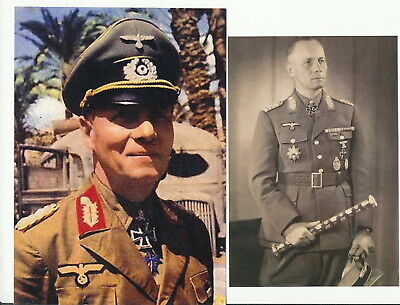Erwin Rommel. Lot of 5 UNSIGNED pix. The Desert Fox ! WWII Germany.Africa Corp.