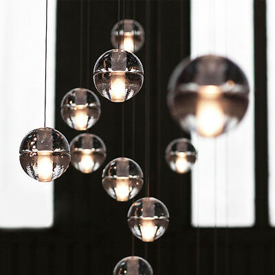 b82eb46a09a Cluster Pendant Modern G4 LED Bubble Crystal ball Ceiling Light Chandelier