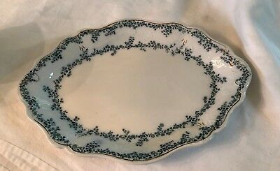 "Beautiful Vintage W.H. Grindley Aloine England 14"" Oval Serving Platter 18OOs"