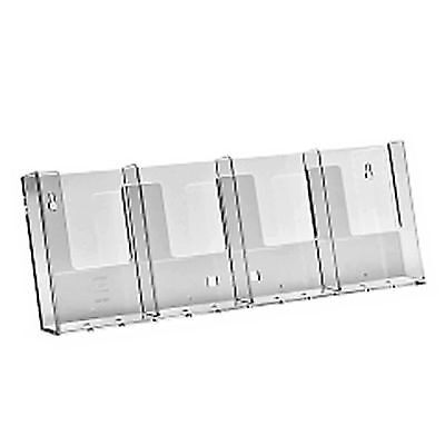 1/3rd A4 DL Trifold 4 Bay Wall Mounted Leaflet Flyer Holder Display Dispensers