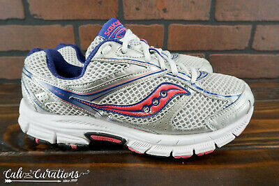 VGC! SAUCONY COHESION 8 Womens Size 10 Wide Running Shoes Silver Pink Blue