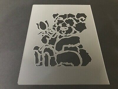 Grizzly Bear #1 Stencil 10mm or 7mm Thick Black Polar Brown