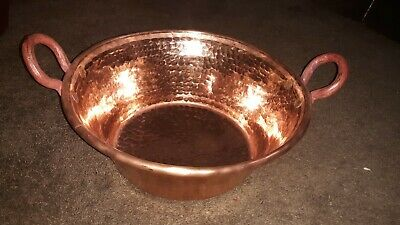 Mexican Pure Copper Pot for Carnitas Cazo. Very thick and heavy. (14x7 in)
