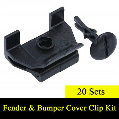 20 Sets Front Fender Bumper Cover Clip & Pin Kit For Toyota/Camry/Corolla/Lexus