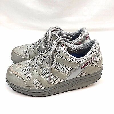 618d9690d024 MBT Sport 04 Womens Walking Athletic Shoes US 7 Gray Toning Fitness Lace Up  Euc