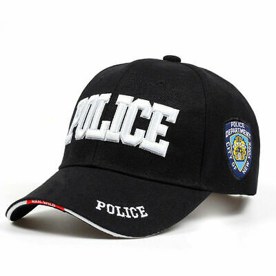 Men Women Snapbacks Embroidery POLICE Letters Baseball Cap Outdoor Sport Sun Hat