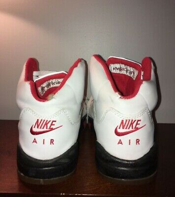 promo code 22fe5 f4fe4 Nike Air Jordan 5 V Retro White Black Fire Red 2000 rare SZ 11