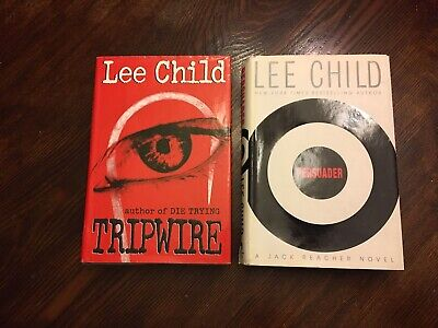 Tripwire & Persuader (SIGNED) By Lee Child Both 1st Edition First Printing