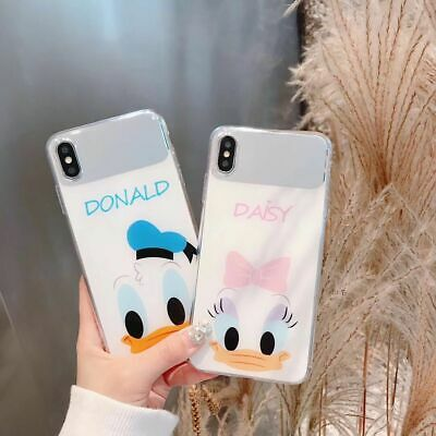 Cute Disney Donald Daisy Duck Mirror soft case cover for iPhone X XS MAX XR 7 8+