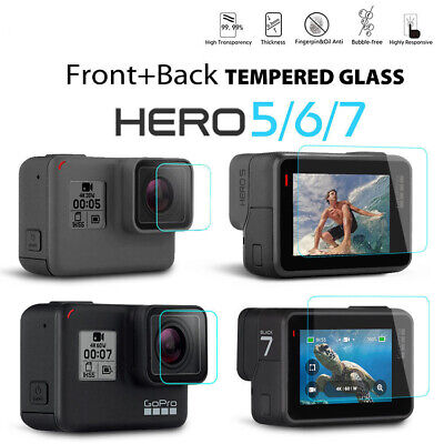 Lens& Screen Protector Film For Gopro Hero 7 6 5 Black Action Camera Accessories