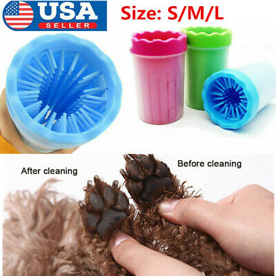 Portable Pet Paw Plunger Mud Cleaner Washer Dog Cat Pets Paw Feet Clean Cup US