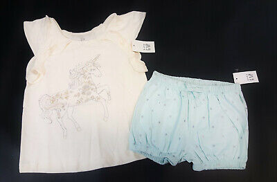 2c57b68314f NWT Baby Gap Girls Size 12 18 24 Months 3t Embroidered Unicorn   Bubble  Shorts