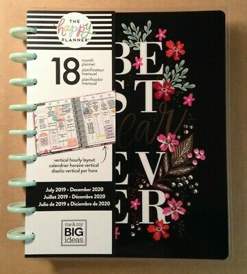 """NEW 2019-2020 me & my BIG Ideas The Happy Planner """"GARDEN BLOOMS"""" CLASSIC 18 Mo."""