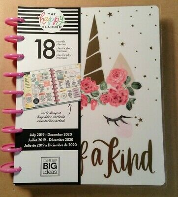 """NEW 2019-2020 me & my BIG Ideas The Happy Planner """"HAPPY ILLUSTRATIONS"""" CLASSIC"""