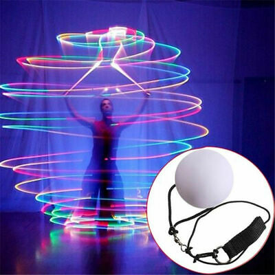 LED Soft Plastic Multi-Colored Glow POI Thrown Balls For Belly Dance Hand Props