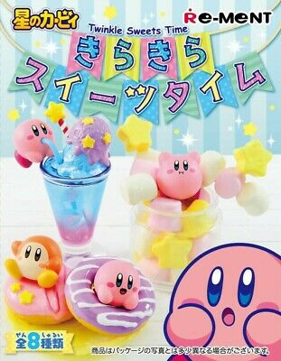 Re-ment Hoshi no Kirby KiraKira Sweets Time Figures Full set 8 packs Japan