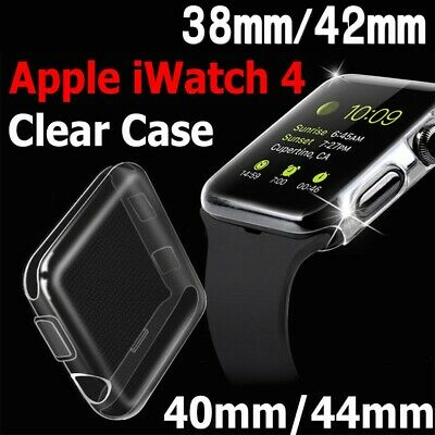 For Apple Watch Series 4 3 2 1 iWatch 40/44mm Clear TPU Screen Protector Case AU