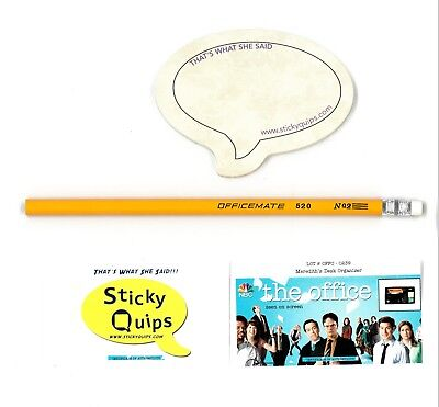 """The Office"" screen used Pencil plus Sticky Quips Speech Bubble/Balloon"