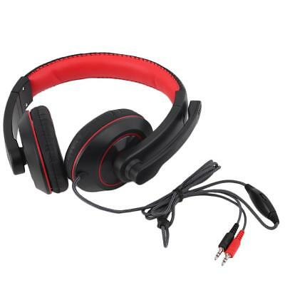 Gaming Headset Surround Hifi Stereo Headband Headphone 3.5mm with Mic for PC UP