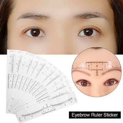10XMicroblading Disposable Accurate Tattoo Ruler Sticker Stencil Eyebrow Shaping