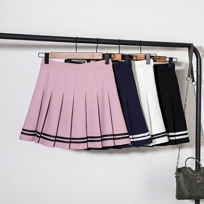 Summer Pleated Mini High Waist Girls Teens School Uniform Women Tennis Skirts AU