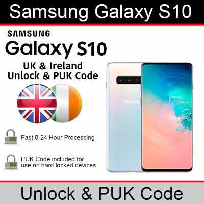 Samsung Galaxy S10 Unlock/PUK Code (All UK & Ireland Networks Supported)