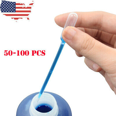 0.2-10ml LDPE Disposable Pipet Graduated Droppers Transfer Pipettes Airbrush US