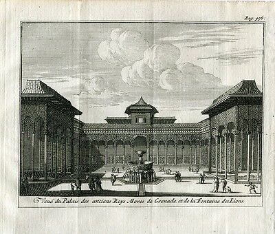 Veue du Palais the anciens Roys Mores of Grenade et Engraved by Van der Aa