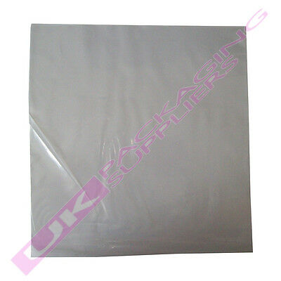 "50 x LARGE 12"" LP CLEAR PLASTIC RECORD VINYL SLEEVES COVERS 250gauge 315x328mm"