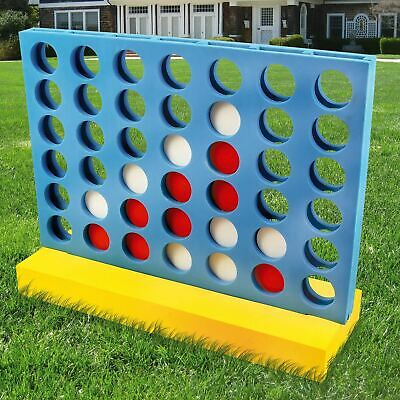 Giant Connect Four 4 in A Row Garden Outdoor Game Kids Adults Family Fun Game