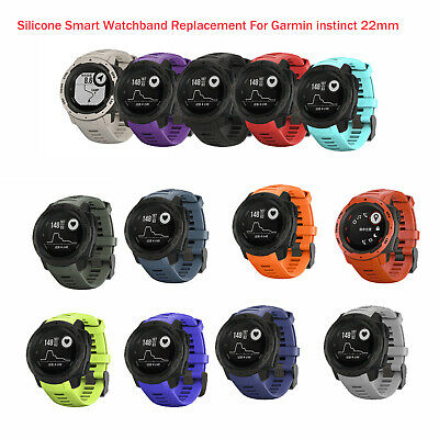 Silicone Smart Watch Band Wrist Strap Disassembly Pin For Garmin instinct 22mm