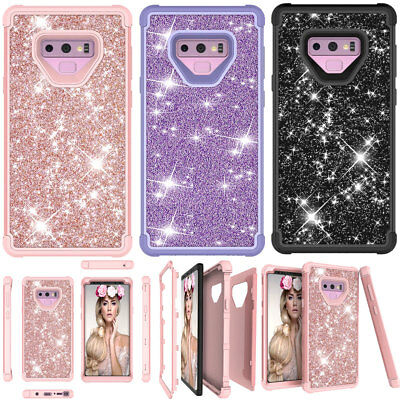 For Samsung Galaxy Note 9 Sparkle Glitter Bling Shockproof Armor Full Cover Case