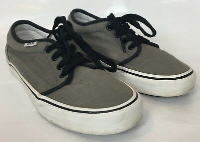 02a8450cd686c7 Vans Size 5 Boys Tennis Shoes Canvas Casual Skater Gray Lace Up Youth