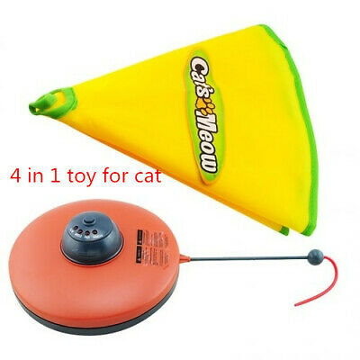 Super 1.5V Pet Cats Meow Electronic  Undercover Fabric Moving Mouse Cat's Toy