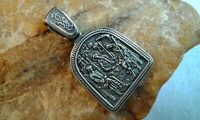 "Sterling Silver ""925"" Orthodox Medal ""the Holy Trinity"" Icon ""trisagion"" Prayer"