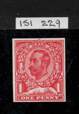GV - 1d Carmine (Die 1b). Imperforate plate proof, no watermark. MNH + RPS cert.