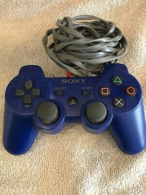 Official Original Sony Playstation Dual Shock 3 PS3 Controller Blue