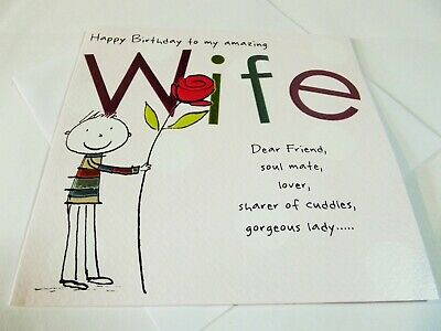 Happy Birthday To My Amazing Wife.....Soul Mate.....Birthday Greetings Card