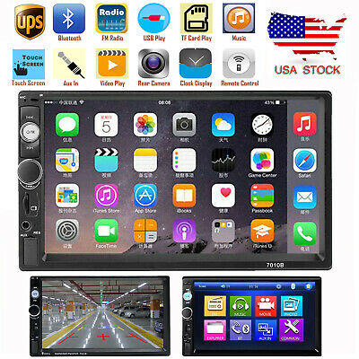 """New 7"""" 2 Din Touch Screen Car MP5 Player Bluetooth Stereo FM Radio USB TF AUX IN"""