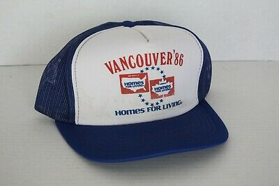 25b9a06b61a51 Vintage Expo 86 Vancouver HOMES FOR LIVING Snapback Hat Cap Sponsor 1986  Trucker