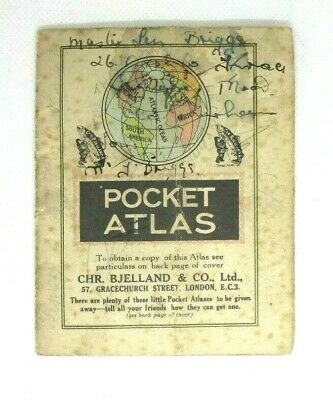 1920`s Small Pocket Atlas from Chr. Bjelland & Co