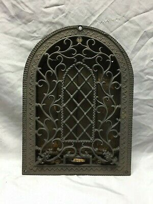 Antique Cast Iron Arched Gothic Heat Grate Wall Register 6X10 Vintage 78-19D