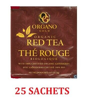 1 Caja Organo Gold Red Tea With Ganoderma Lucidum - Expiry 02/2021 Tax Free